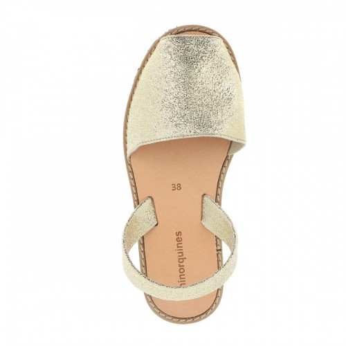 Minorquines-Avarca-Lezard-Platinum-Leather-Sandals