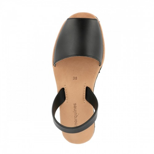 Minorquines-Avarca-Platja-Black-Leather-Sandals