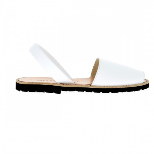 Minorquines Avarca White Leather Sandals