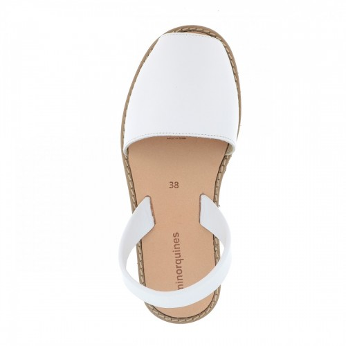 Minorquines -Avarca-White-Leather-Sandals