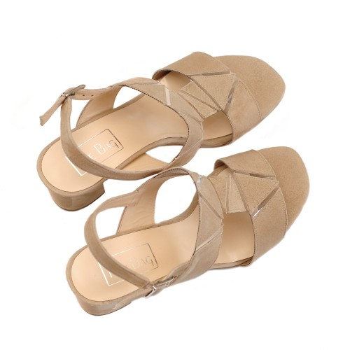 The-Bag-Beige-Suede-Geometrical-Details-Sandals