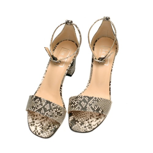 The-Bag-Black-And-White -Snake-Print-Leather-Sandals