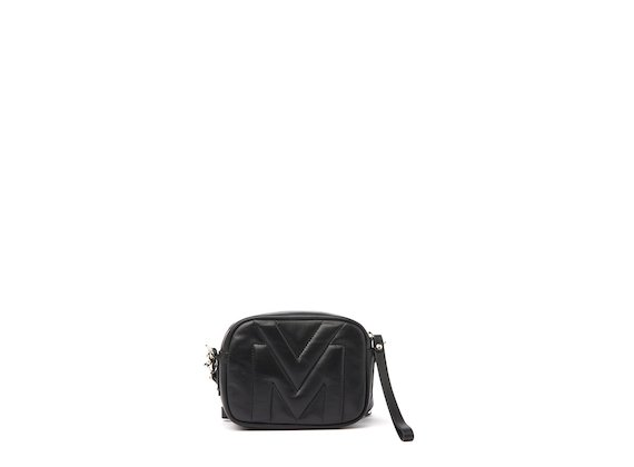 Vic-Matie-Melody-Black-Mini-Bag -Quilted-Logo