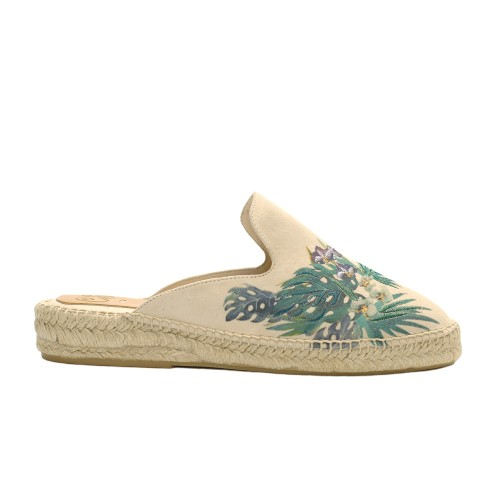 carmen saiz embroidered suede esparilles slippers
