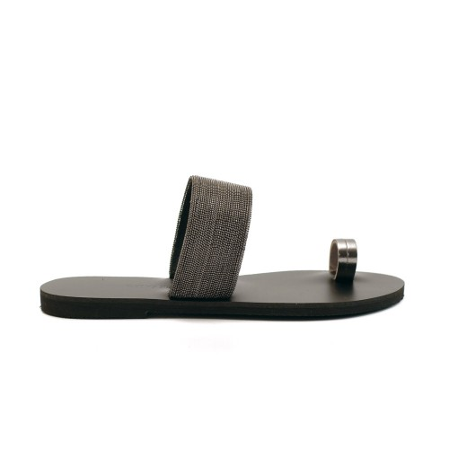 greek salad sandals kedros black leather slides