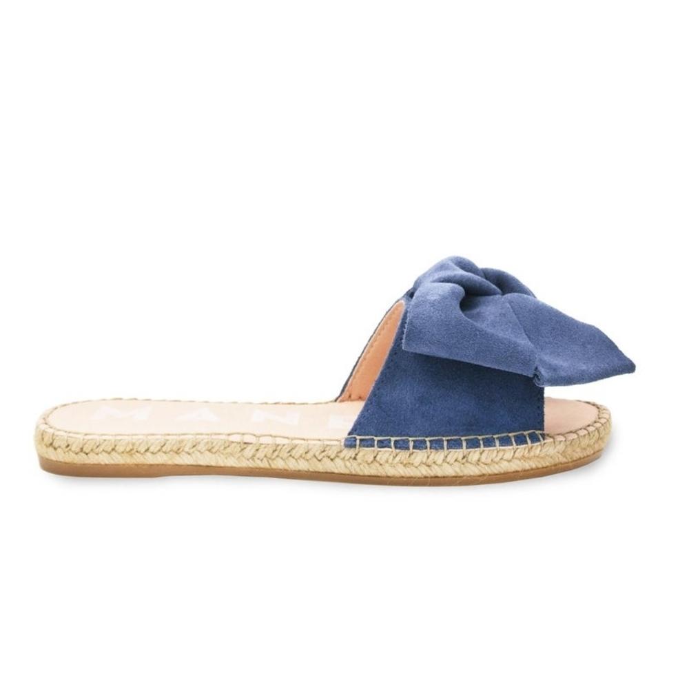 manebi hamptons jeans suede slippers