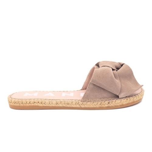manebi hamptons taupe espadrille slippers