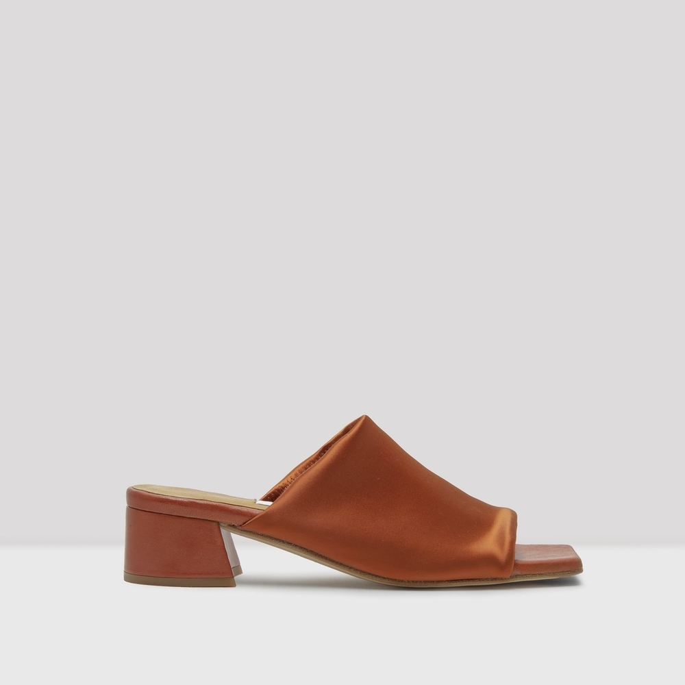 Miista Caterina Lycra Brick Color Mules