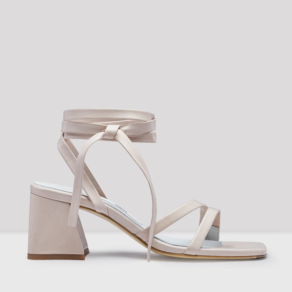 miista quima creme leather sandals