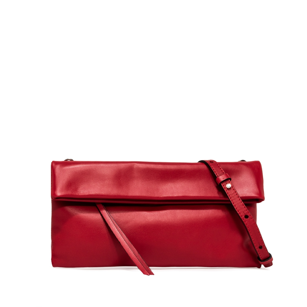 Gianni chiarini cherry medium red leather bag
