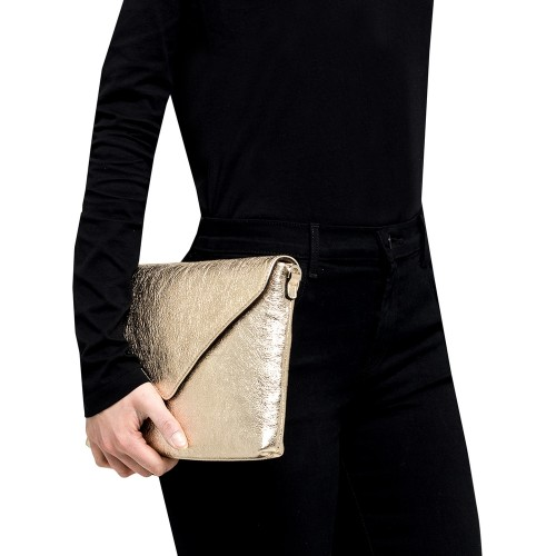 Gianni-Chiarini-Victoria-Platinum-Leather-Clutch