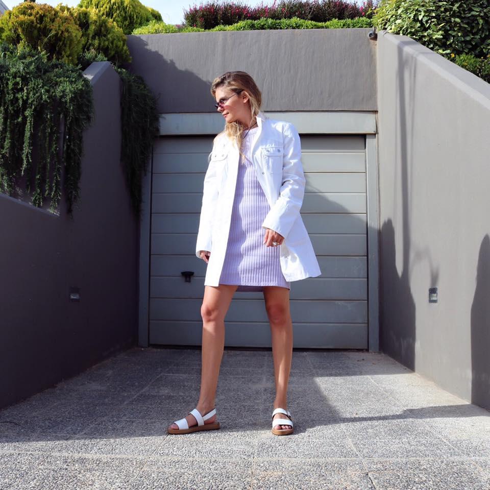 Maypol Ecomo Bufallo White Leather Sandals