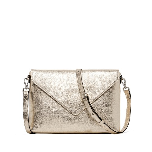 Gianni Chiarini Victoria Platinum Leather Clutch
