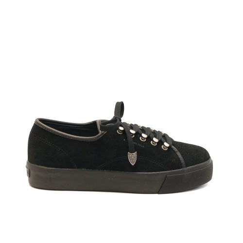 Superga 2730 Black Suede- Flatforms