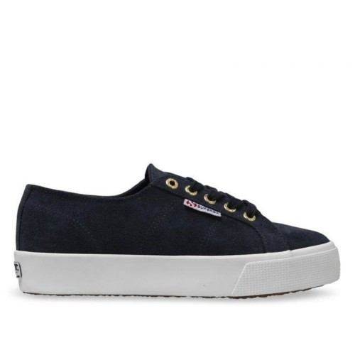 Superga 2730 blue night shadow suede sneakers