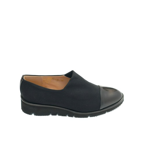 The Bag Black Comfy Wedge Slip Ons