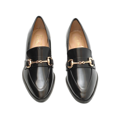 The-Bag-Jordan-Hoersebit-Black-Leather-Loafers