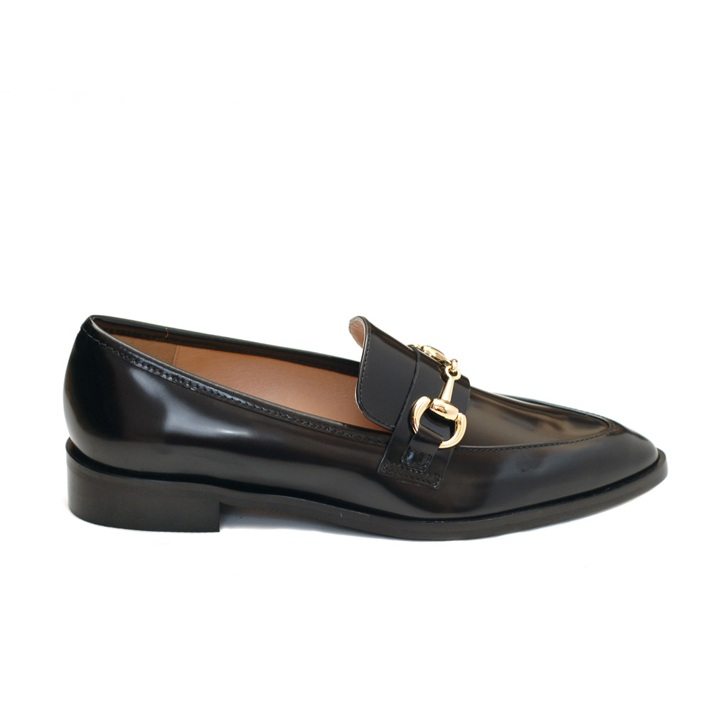 The Bag Jordan Hoersebit Black Leather Loafers