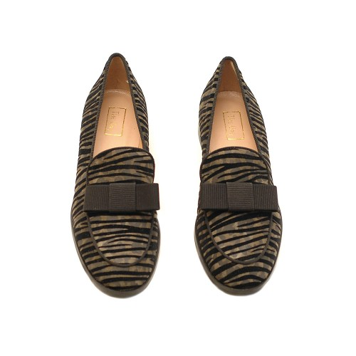 The-Bag-Suede-Green-Zebra-Effect-Loafers