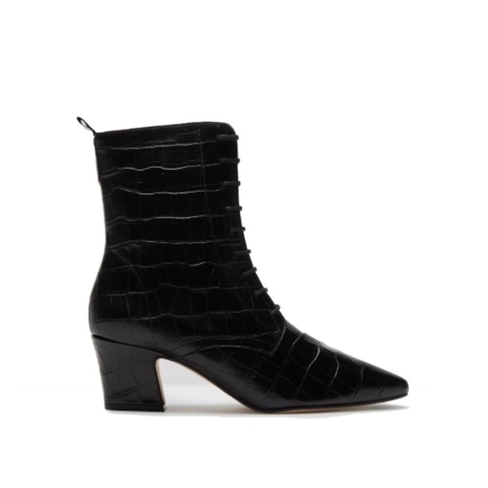 miista zelie black croc boots