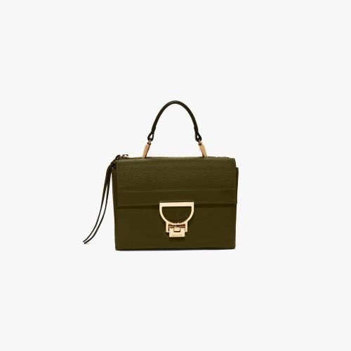 Coccinelle Arlettis Mini Evergreen Leather Handbag