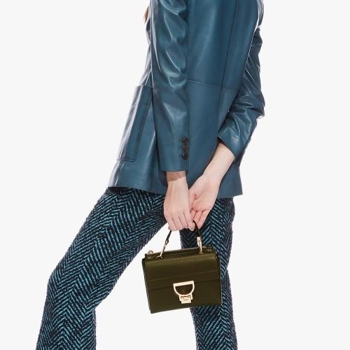 Coccinelle-Arlettis-Mini-Evergreen-Leather-Handbag