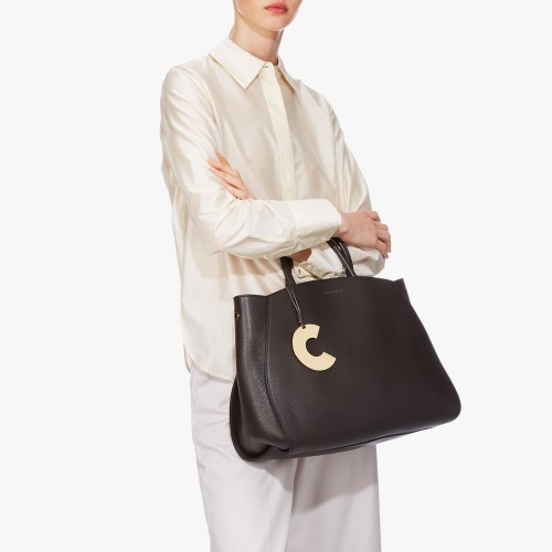 Coccinelle-Concrete-Maxi-Natural-Grain-Leather-Handbag