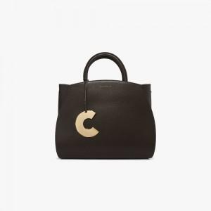 Coccinelle Concrete Medium Black Leather Handbag