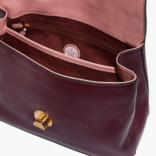 Coccinelle-Liya-Medium-Burgundy-Natural-Grain-Leather-Handbag