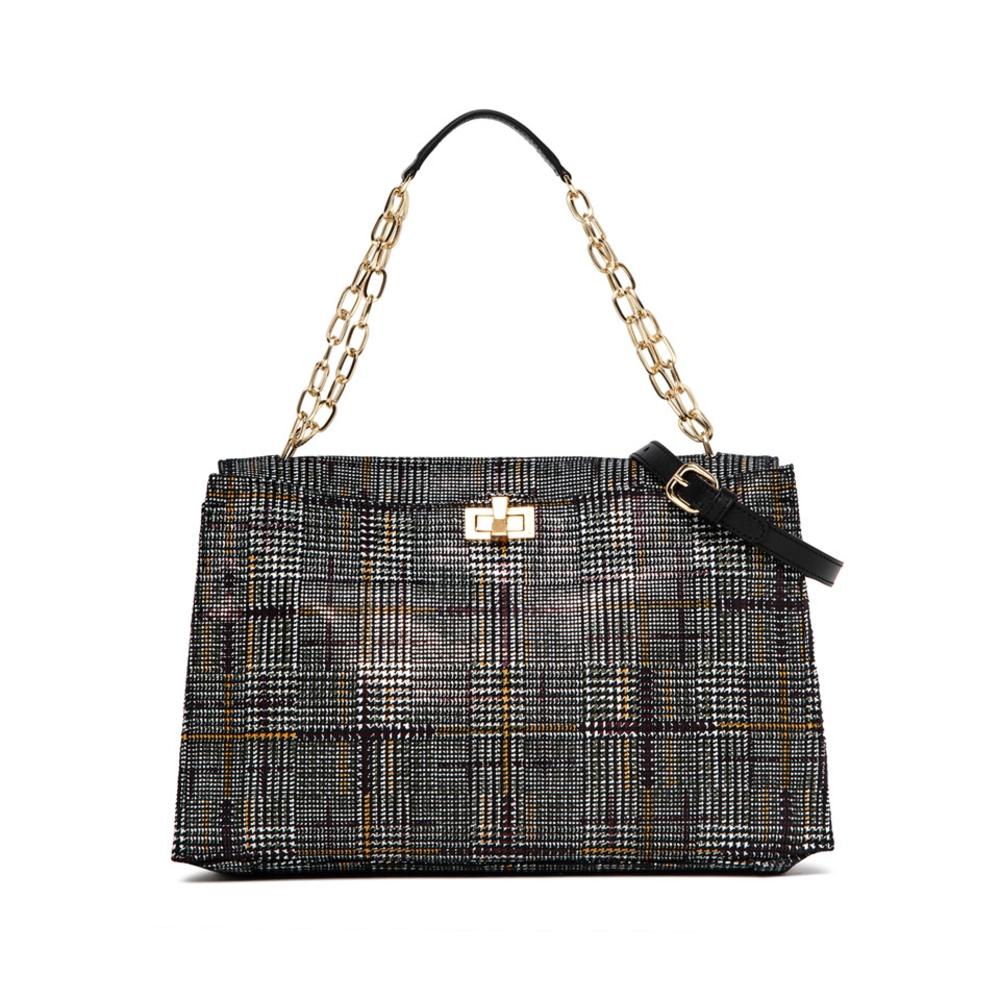 Gianni Chiarini Emma Large Leather Checked Handbag