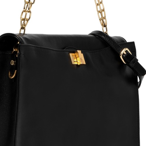 Gianni-Chiarini-Emma-Medium-Black-Leather-Shoulder-Bag