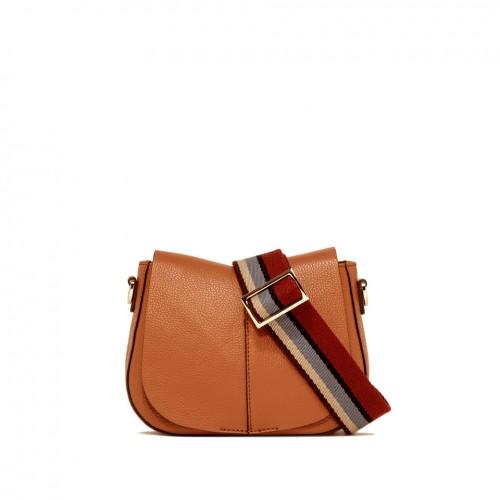 Gianni Chiarini Helena Small Orange Leather Bag