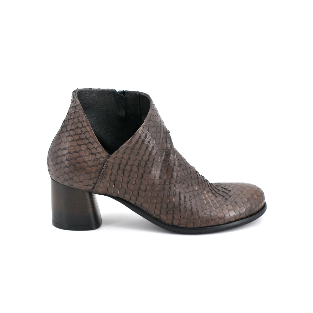 Lilimill 6719 Brown Leather Ankle Boots