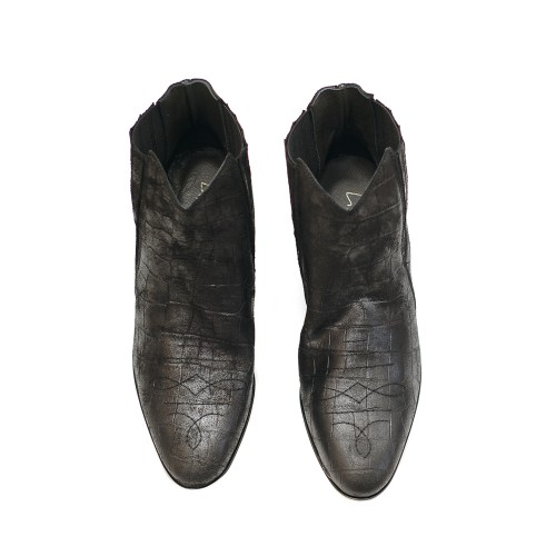 Lilimill-6723-Black-Croc-Effect-Suede-Ankle-Boots