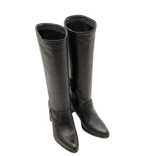 Lilimill-6758-Black-Leather-Boots