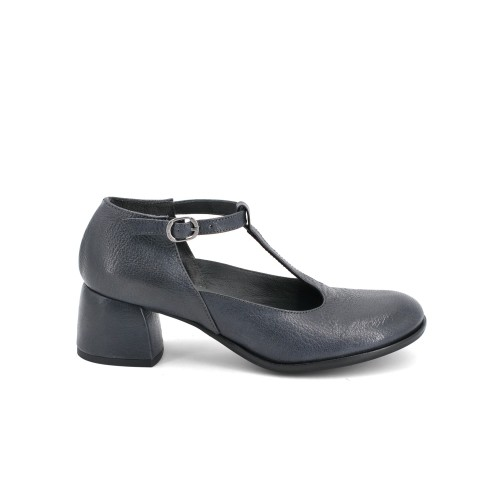 Lilimill 6766 Blue Grey Leather Pumps