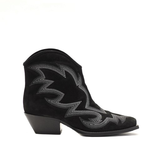 Vic Matie Paloma Black Suede Western Boots