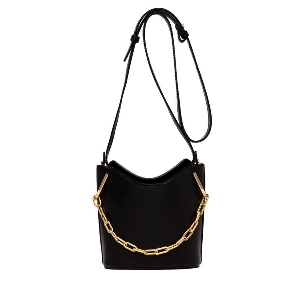 Gianni Chiarini sophia large black bucket bag