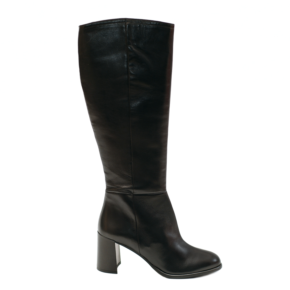 THE BAG BLACK LEATHER BOOTS