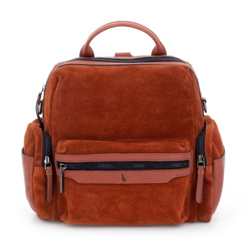 Abbacino soft suede terracotta backpack