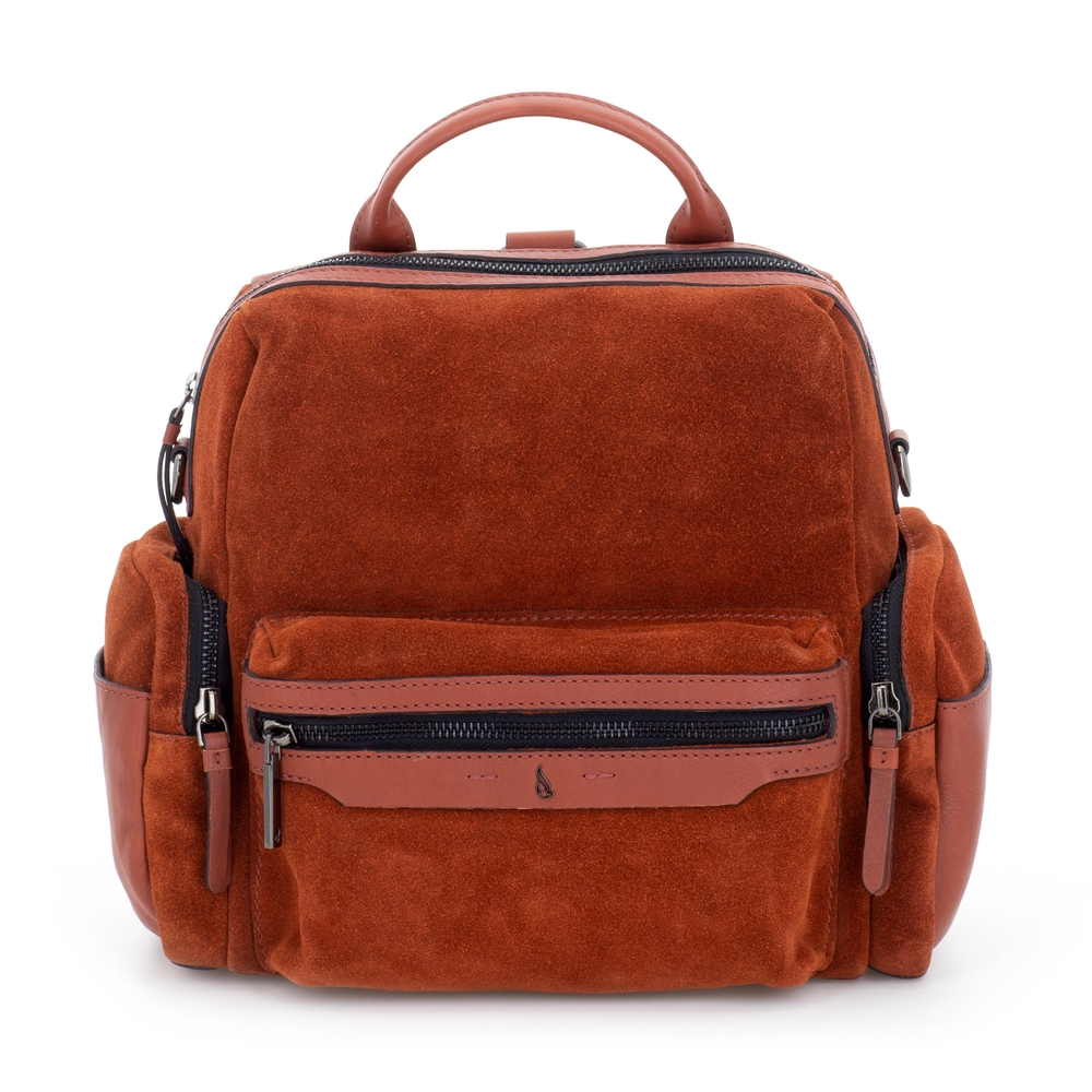 Abbacino soft suede terracotta backpack