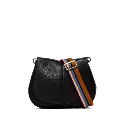 Gianni Chiarini Helena Medium Black Leather Bag