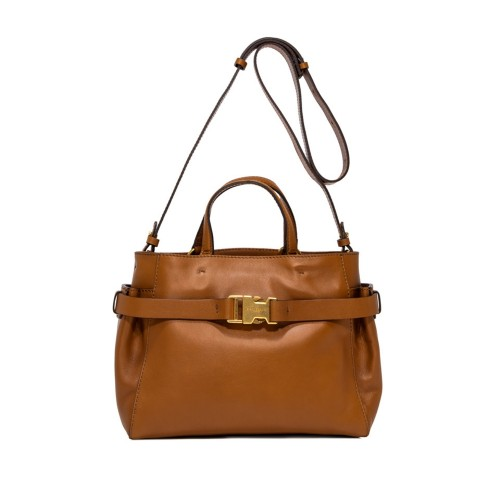 STELLA MEDIUM BROWN HANDBAG