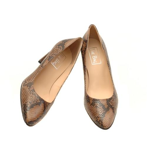 The-bag-brown-snake-print-high-heel-pumps
