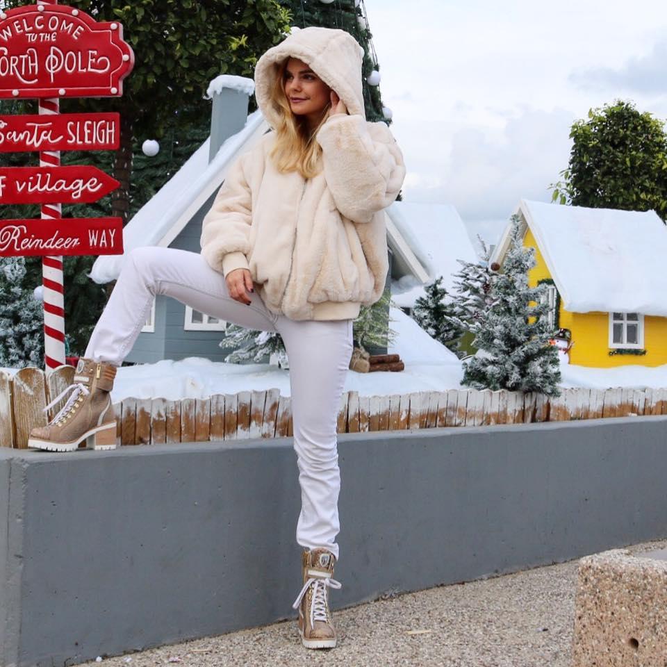 new italia beige block heel boots-worn