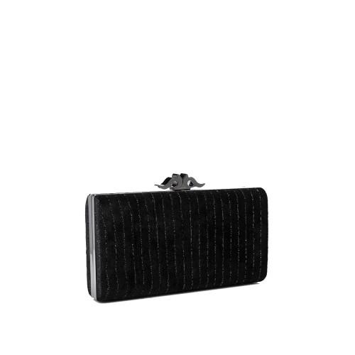 Abbacino Black Velvet Clutch