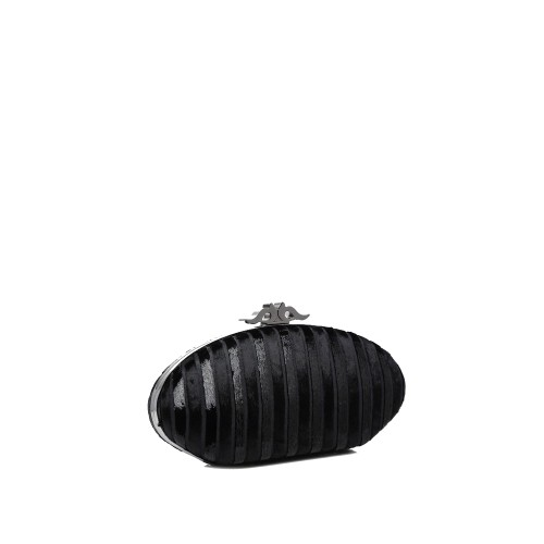 Abbacino black clutch with removable strap