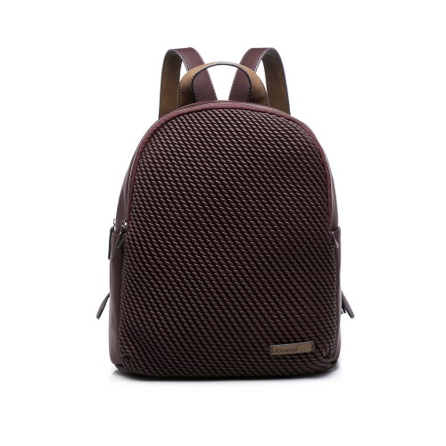 Abbacino Burgundy Padded Backpack