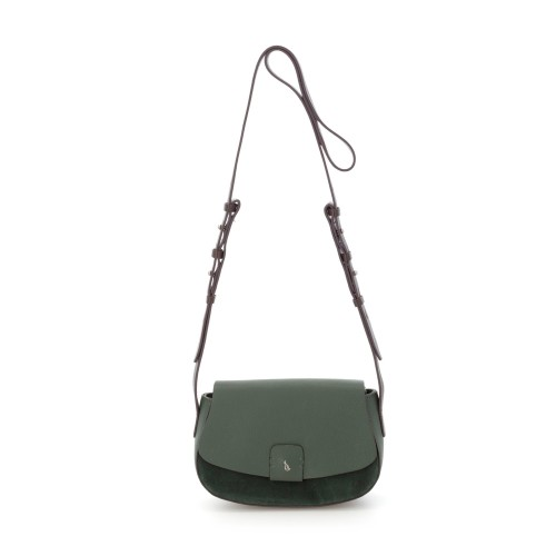 Abbacino green leather cross body bag