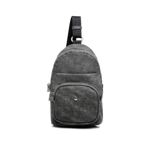Abbcino Grey Single Strap Backpack